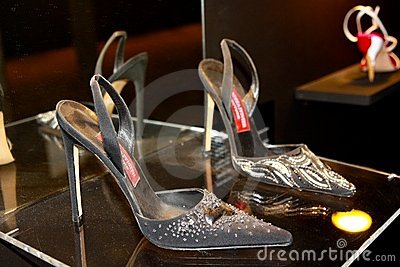 Andrea Pfister s shoes Editorial Image