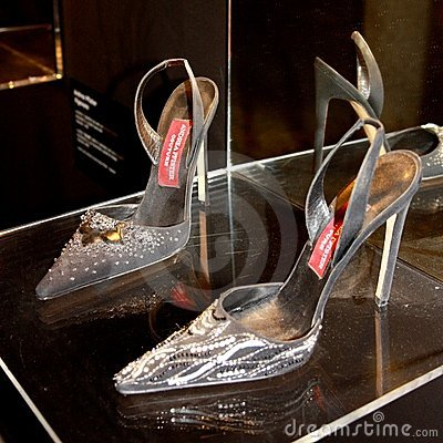 Andrea Pfister s shoes Editorial Stock Photo