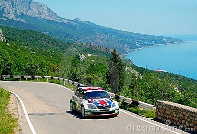 Andreas Mikkelsen on IRC PRIME Yalta Rally 2011 Editorial Photography