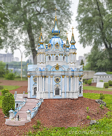 Free Andreevskaya Church In The City Kiev. The Temple In Honor Of St. Andrew The First-Called Royalty Free Stock Images - 79889099