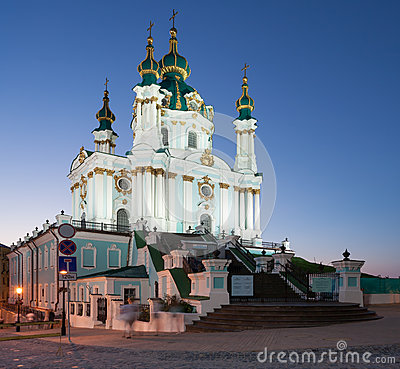 Andreevsky Church at night