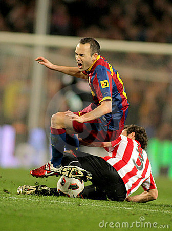 Andres Iniesta of Barcelona Editorial Image