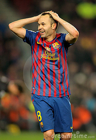 Andres Iniesta of FC Barcelona Editorial Stock Image