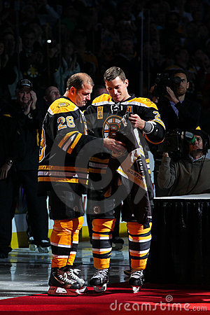 Andrew Ference and Mark Recchi Editorial Photography