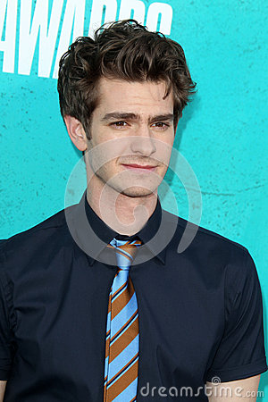 Andrew Garfield arriving at the 2012 MTV Movie Awards Editorial Photography