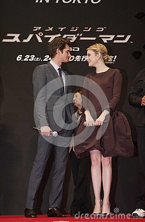 Andrew Garfield and Emma Stone Editorial Photo