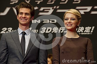 Andrew Garfield and Emma Stone Editorial Image