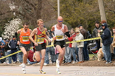 Andrew, Sell and Troop race up Heartbreak Hill Editorial Image