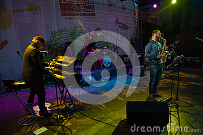 Andrey Kondakov group performs at Usadba Jazz Festival Editorial Stock Photo