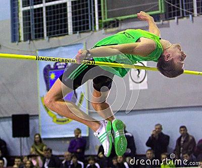 Andriy Protsenko on high jump Editorial Stock Photo
