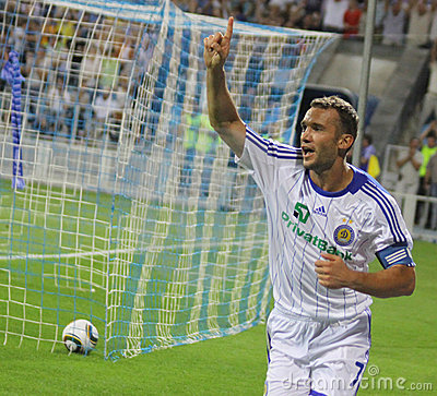Andriy Shevchenko of Dynamo Kyiv Editorial Stock Photo