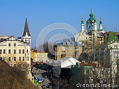 Andriyivsky uzviz, Kiev, Ukraine