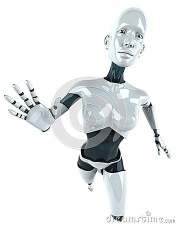 женщина android