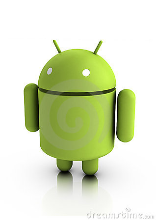 Android characters Editorial Image