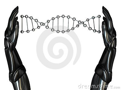 Android Hands Create DNA String 03