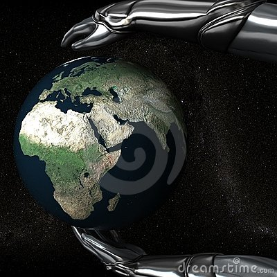 Android Hands Keep Earth Globe Safe 05