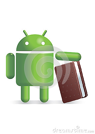 Android with icecream sandwich Editorial Photography