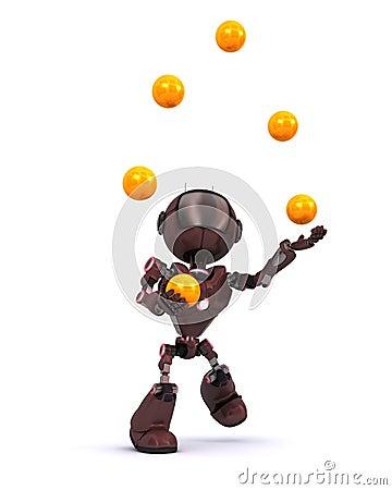 Android juggling balls