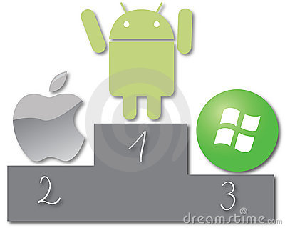 Android most popular system Editorial Photography
