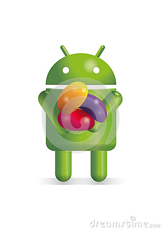 Android robot with jelly beans Editorial Photo