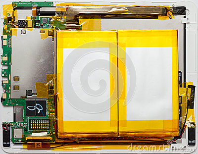 Android tablet disassembled Editorial Photo
