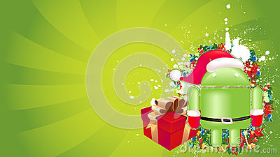 Android xmas background Editorial Photography