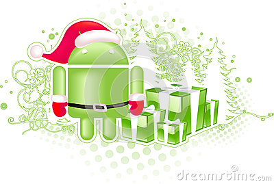 Android xmas logo Editorial Image