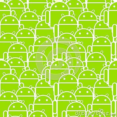 Androidu motłoch Zdjęcie Stock Editorial