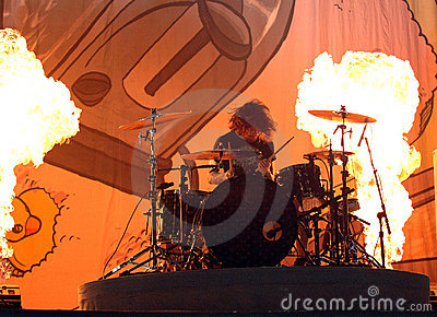 Andy Hurley Fall Out Boy drummer live concert Editorial Stock Photo