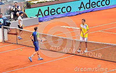 Andy Murray at the ATP Mutua Open Madrid Editorial Image