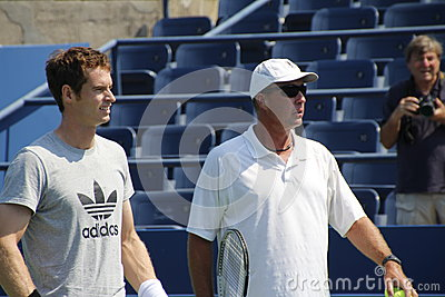 Andy Murray and Ivan Lendl Editorial Photography