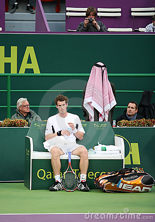 Andy Murray at Qatar tennis 2009 Editorial Photography