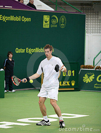 Andy Murray at Qatar Tennis open Editorial Photography