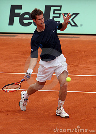 Andy Murray at Roland Garros 2009 Editorial Stock Image
