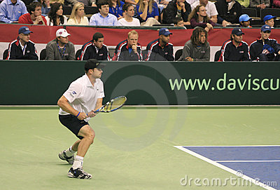 Andy Roddick Forehand, Tennis Editorial Photo