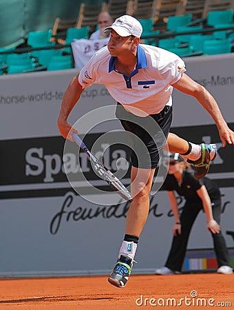 Andy Roddick Tennis  2012 Editorial Photo