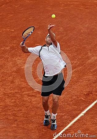 Andy Roddick (USA) at Roland Garros 2009 Editorial Stock Photo