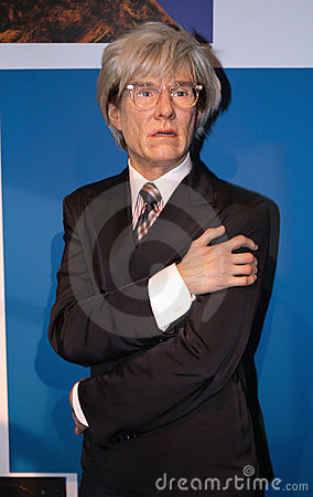 Andy Warhol at Madame Tussaud s Editorial Stock Image