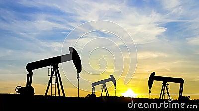 Anel de óleo no nascer do sol