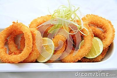 Anel do calamar friável