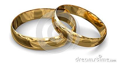 Anelli di oro (percorso di ritaglio incluso)