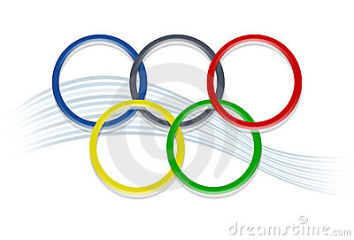 Anelli olimpici Immagine Stock Editoriale
