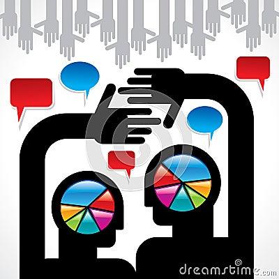 Anförande bubblar med tillsammans