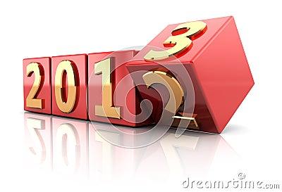 Anfangendes neues Jahr