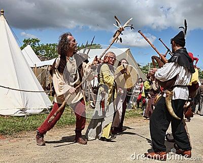 Anfitriões medievais Foto Editorial