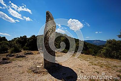 Angehobener Stein