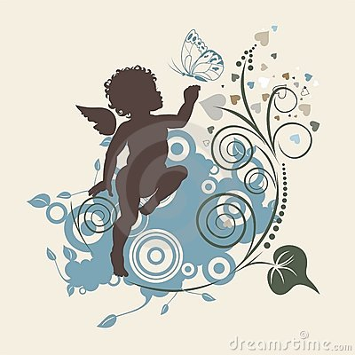 Free Angel And Butterfly Royalty Free Stock Image - 4099486