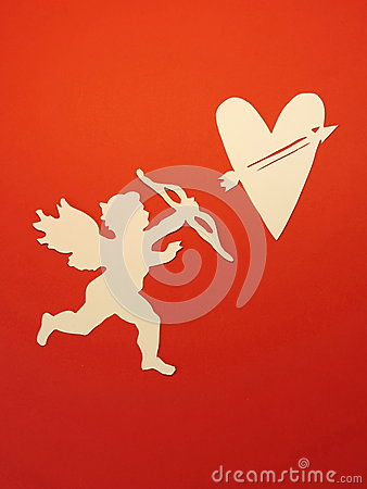 Free Angel And Heart. Paper Cutting. Royalty Free Stock Photography - 37349737