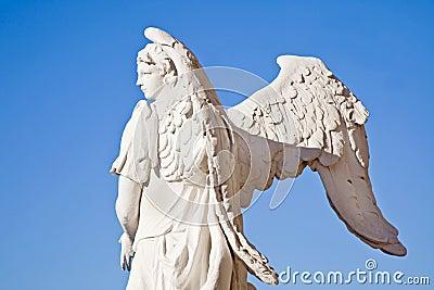 Angel on a background sky