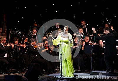 Angel Blue performs at Bahrain Nov 29, 2012 Editorial Photo